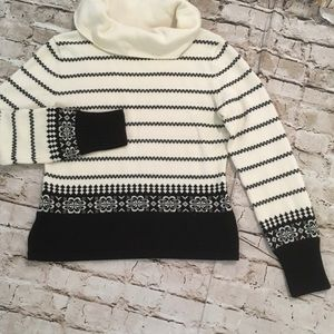 Loft merino wool blend cowl neck top M